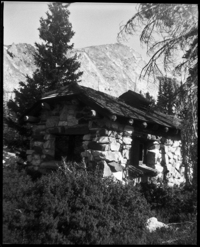Camera: Graflex Crown Graphic (1954) Lens: Steinheil München Anastigmat Actinar 4.5; 135mm Film: Ultracruz Autoradiography Xray Film; 100iso Exposure: f/12.5; 1/200sec Process: HC-110; 1+100; 7min  Lake Marie, Wyoming July 2020